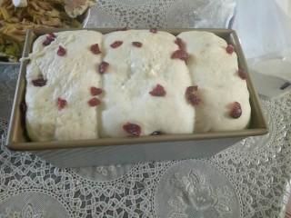方形酸奶土司,放温暖处发酵