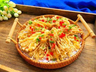椒盐金针菇,美味极了