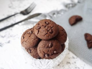 巧克力豆软曲奇,软曲奇超好吃
