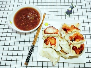 茄子猪肉馅儿煎饺,超级好吃的煎饺子!