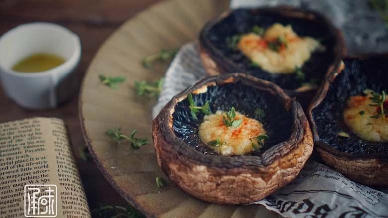 承味里昂黄油法香碎烤牛排菇,好吃的没道理!