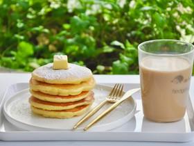 羊奶葡萄干松饼&羊奶茶