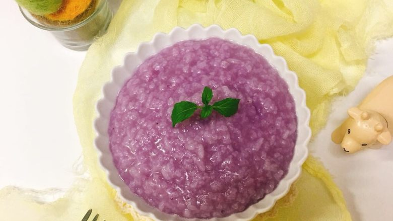 香蕉紫薯粥