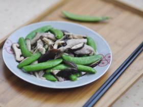 瘦肉炒青甜豆