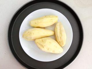 美味小零食   无油版红薯椰香小方,给红薯削皮