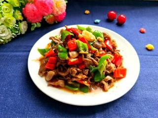辣炒鸡胗,装盘,特别香,特别下饭。