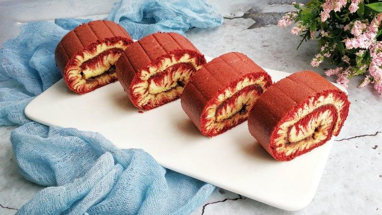 旋风蛋糕卷[红丝绒]