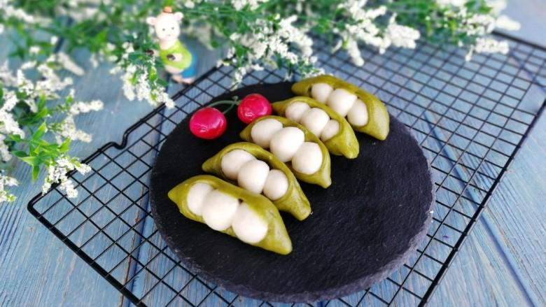 人见人爱的豌豆荚馒头