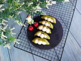 人见人爱的豌豆荚馒头,成品图