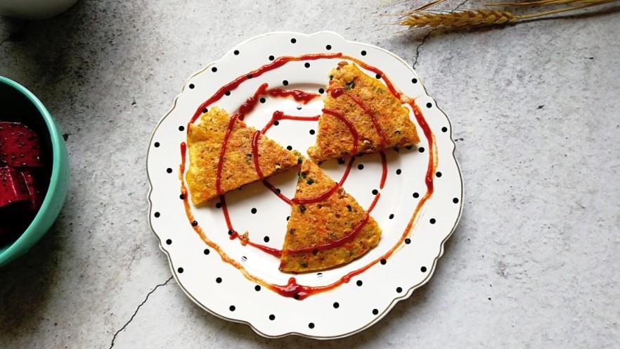 燕麦虾仁蛋饼