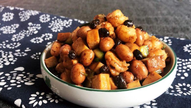 下饭小菜  豆豉什锦虾仁