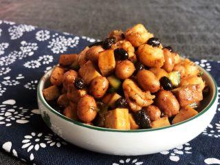 下饭小菜  豆豉什锦虾仁,这道豆豉什锦虾仁口感鲜香,旅具有分明的层次感,是非常完美的下饭菜~