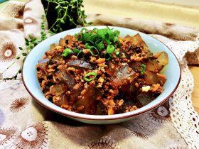 十元钱搞定的美味➕雪菜肉末烧凉粉