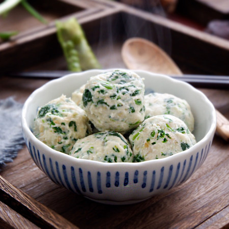 燕麦菠菜鸡肉丸
