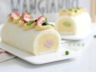 低脂豆乳天使蛋糕卷