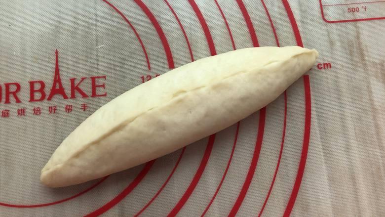 海苔肉松面包,搓成橄榄形
