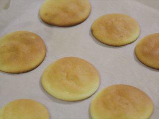 肉松小贝,此时烤箱已经预热好了,送入烤箱中层,烤5-10分钟,顶部开始上色就可以取出了,不要烤得太干。取出后带着油纸放在烤架上晾凉。