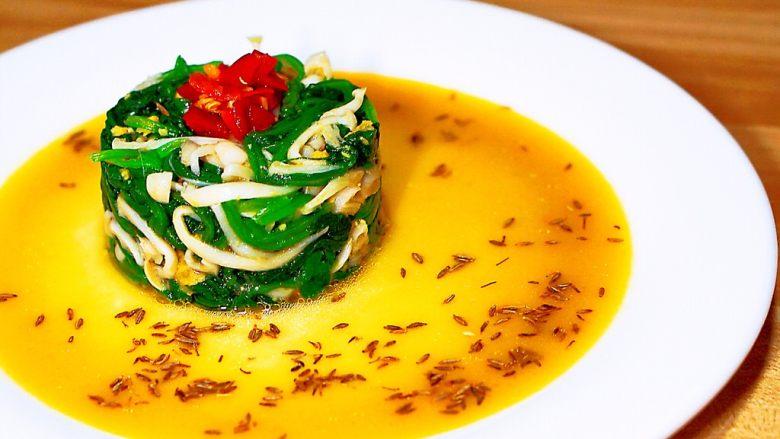 冷菜-黄金翡翠白玉菇