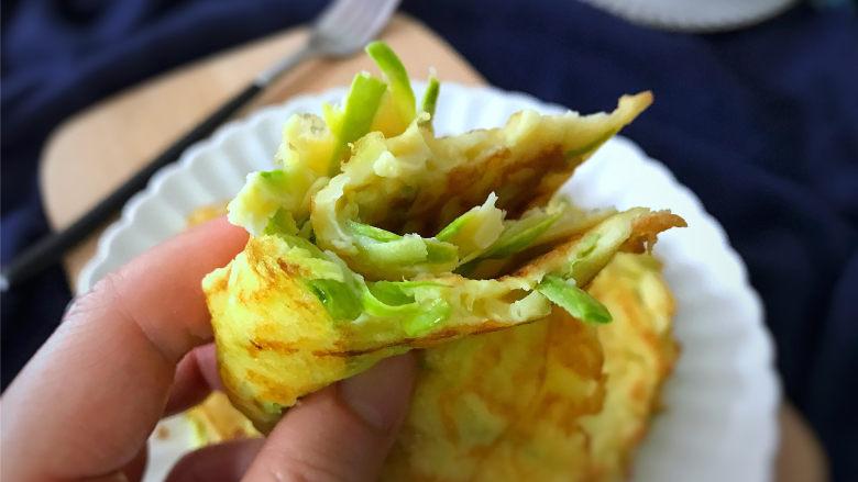 西葫芦鸡蛋饼,清香软糯,简单却很有营养 鲜嫩可口的西葫芦鸡蛋饼。