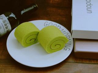 菠菜蛋糕卷,成品
