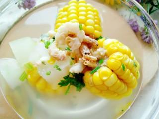 海米冬瓜汤,成品