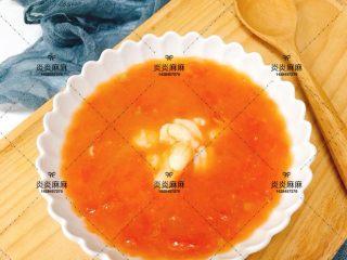 番茄虾仁,出锅