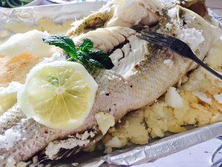 椒香盐封海鲈鱼