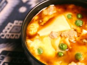 肉沫豆腐鸡蛋羹