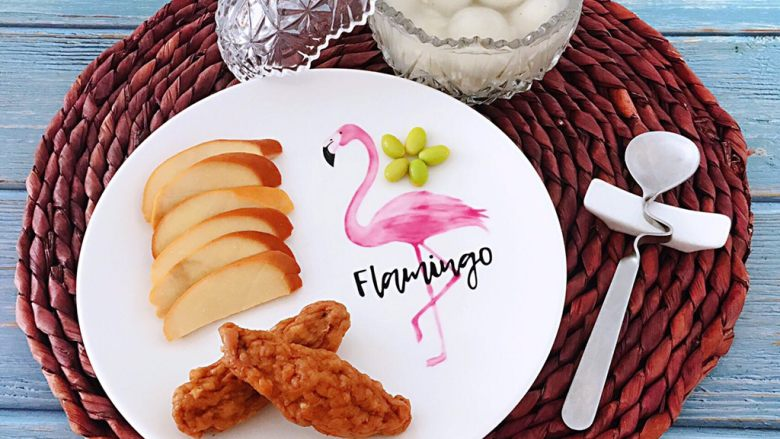 醪糟汤圆早餐,搭配着豆卷和肉参吃起来好享受