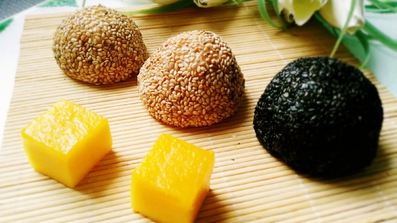 芒果芝麻糯米糍