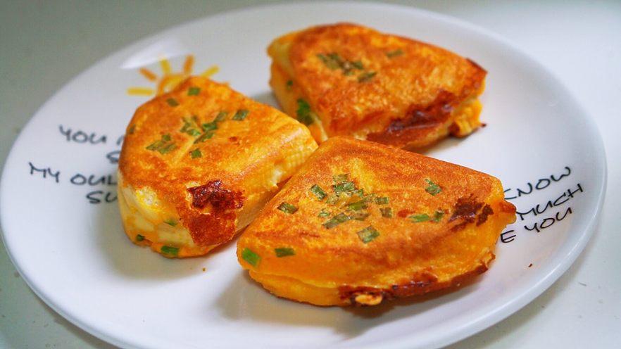 中国式芝士火腿三明治