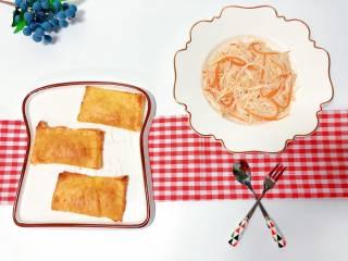 【宝宝辅食】鸡丝凉拌面,营养搭配:鸡丝凉拌面+香甜菠萝派