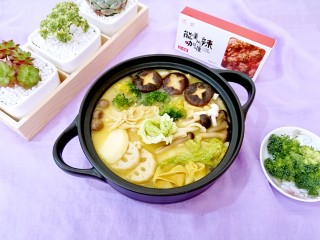 咖喱菌菇蔬菜火锅, 这么简单又好吃的火锅,一定不要错过哦!