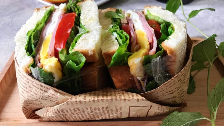纸盒三明治