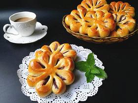 紫薯花面包#冷藏发酵法#