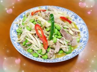 毛豆米茭白炒肉丝