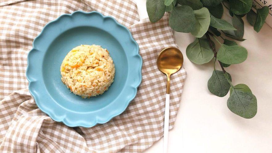 银鱼干贝奶酪杂蔬炒饭