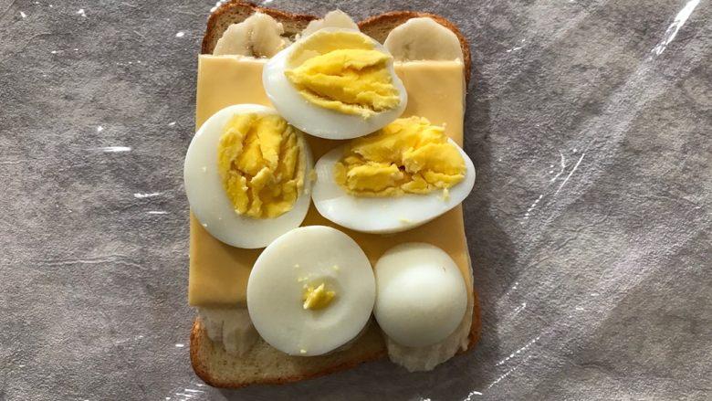 香蕉鸡蛋芝士三明治,码上鸡蛋