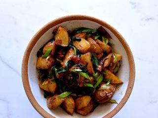 回锅土豆,纯素食的一份回锅土豆。