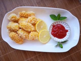 番茄沙司巴沙鱼排,成品展示