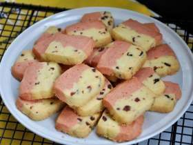 蔓越莓撞色饼干