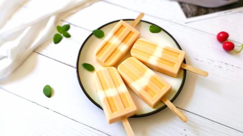 芒果酸奶雪糕,成品图!