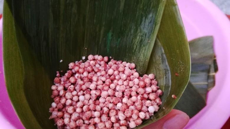 水晶粽,用同样的方法包可可水晶粽
