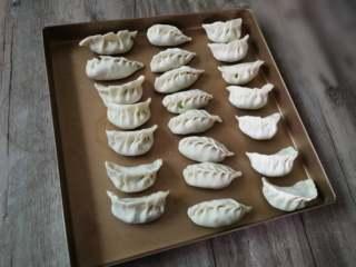 韭菜猪肉饺子,依次做好所有的饺子