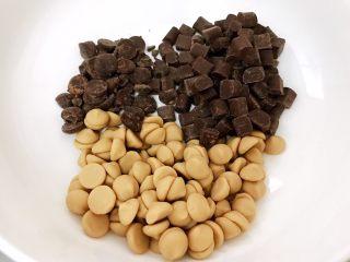 超好吃的生巧克力,三种巧克力称重放入无水的碗里
