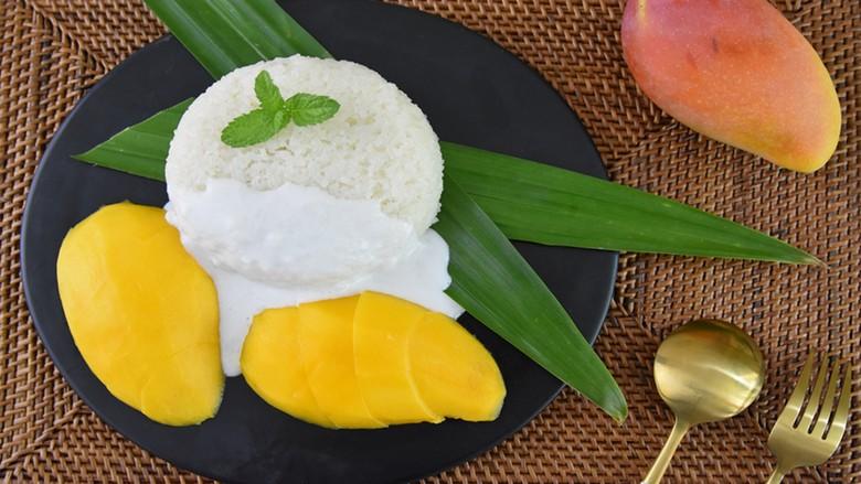 香甜可口的芒果糯米饭,在家也能做