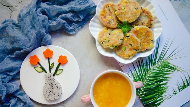 香甜土豆饼,配上一碗南瓜粥,营养更健康!