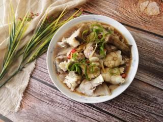 清蒸鳕鱼,装盘,味道鲜美极了