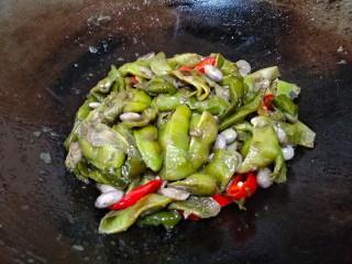 素烧橄榄豆,翻炒均匀即可