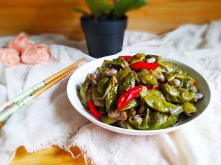 素烧橄榄豆,出锅装盘